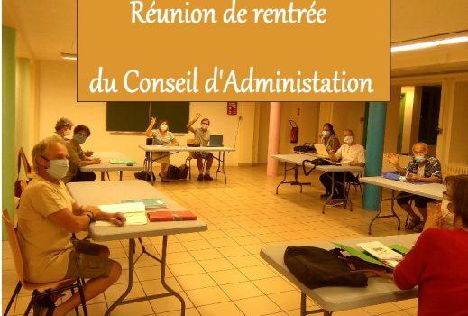 Réunion du Conseil d'Administration
